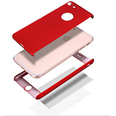 Uyumluluk iPhone 8 iPhone 8 Plus Kılıflar Kapaklar Şoka Dayanıklı Other Tam Kaplama Pouzdro Tek Renk Sert PC için Apple iPhone 8 Plus
