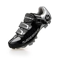 billige Sykkelsko-SIDEBIKE Mountain Bike-sko Karbonfiber Ventilasjon, Innvirkning, Ultra Lett (UL) Sykling Svart / Rød / Grønn Herre