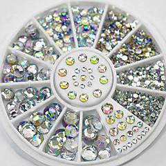 mixed sizes white crystal nail art rhinestones acrylic ab jewelry shining  manicure design 981eee95ac46