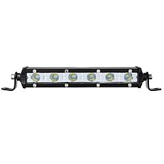 tanie Oświetlenie pomocnicze-otolampara 1 szt. dc 9v - 32v super cienki pojedynczy wiersz 18W 1800lm led lightlight bar
