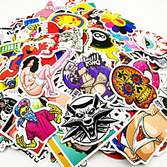 ziqiao 500 stuks / pak willekeurige muziekfilm vinyl skateboard gitaar travel case sticker autooverdrukplaatje leuke stickers