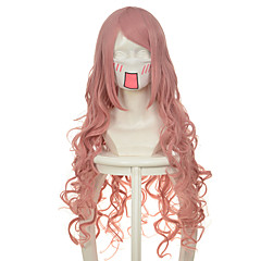 tanie Peruki syntetyczne-Peruki syntetyczne Falisty Gęstość Bez czepka Damskie Różowy cosplay peruka Włosy syntetyczne