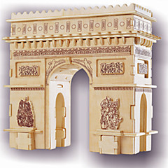 cheap -Wooden Puzzle Famous buildings Arc de Triomphe Professional Level Wooden 1pcs Kid's Boys' Gift