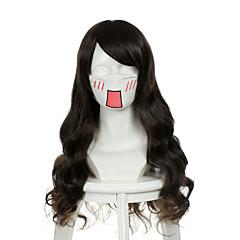 tanie Peruki syntetyczne-Peruki syntetyczne / Peruki do kostiumów Damskie Falowana Brązowy Włosie synetyczne Brązowy Peruka Bez czepka Ciemnobrązowy OUO Hair