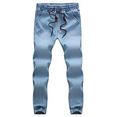 Męskie Bawełna Jeansy Spodnie Solidne kolory