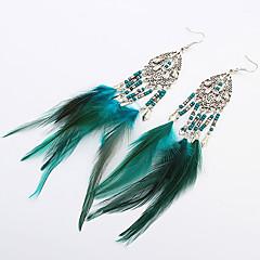 女性 欧風 ファッション 羽毛 合金 ドロップ 翼 / 羽 ジュエリー 用途 パーティー 日常 カジュアル