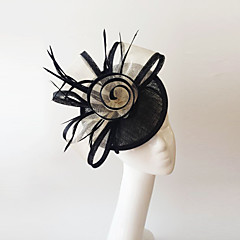 Flax Feather Fascinators Headpiece Elegant Classical Feminine Style