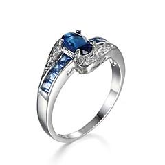 olcso -Női Gyűrű Kocka cirkónia luxus ékszer jelmez ékszerek Cirkonium Kocka cirkónia Ékszerek Kompatibilitás Napi Hétköznapi