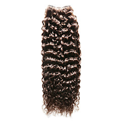 billiga Peruker och hårförlängning-Indiskt hår Lockigt / Jerry Lockigt Äkta hår Förfärgad hår väver Hårförlängning av äkta hår Människohår förlängningar