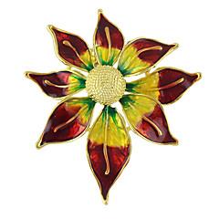 billige Motebrosjer-fargerik emalje Søn blomst form brosjer