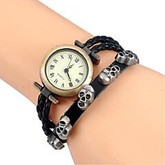 vintage punk watch men Skull Leaves Multi-element Weave Genuine Leather Quartz watch Montres hommes Strap Watch