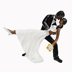 billige Kakedekorasjoner-Kakepynt Ikke-personalisert Klassisk Par Harpiks Bryllup / Jubileum / Bridal Shower / Bursdag SvartStrand Tema / Hage Tema / Asiatisk