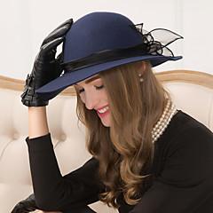 ウールチュールの魅力帽子のヘッドピースクラシックな女性のスタイル