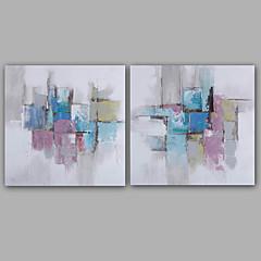 billiga Oljemålningar-Hang målad oljemålning HANDMÅLAD - Abstrakt Klassisk Moderna Inkludera innerram / Sträckt kanfas