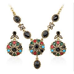 baratos Conjuntos de Bijuteria-Mulheres Zircônia cúbica / Ruby Sintético Conjunto de jóias - Luxo Incluir Arco-Íris Para Casual