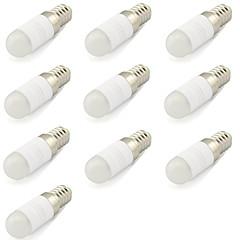 billiga Dekorativ belysning-10pcs 2 W 180 lm E14 LED-lampor med G-sockel T 1 LED-pärlor COB Dekorativ Varmvit / Kallvit 220-240 V / 10 st / RoHs
