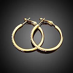 スタッドピアス フープピアス イヤリング ジルコン 銀メッキ ゴールドメッキ ローズゴールドめっき 模造ダイヤモンド 合金 円形 幾何学形 ゴールド シルバー ローズ ジュエリー のために 結婚式 パーティー 日常 カジュアル 1ペア