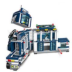 אבני בניין רכב משטרה צעצועים כלי טיס Military חתיכות