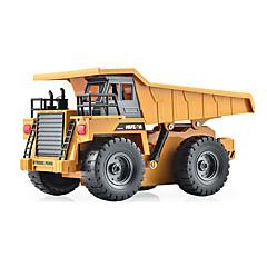 baratos Carros Controle Remoto-Carro com CR HUINA 1540 Canal 6 2.4G Caminhão / Veiculo de Construção / Caminhão basculante 1:18 KM / H Controlo Remoto / Recarregável / Elétrico