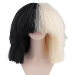 tanie Peruki syntetyczne-Peruki syntetyczne Afro Włosy syntetyczne 100% włosy kanekalon / Naturalna linia włosów Czarny Peruka Damskie Medium Pełna poronka