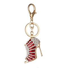 ファッション創造的なギフトダイヤモンドかわいいかかと車のキーチェーンバッグペンダントキーチェーンのハン版