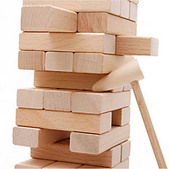 Építőkockák Fahasáb Puzzle Asztali Játékok Stacking Tower Játékok Klasszikus 54 Darabok