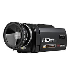 ordro® HDV-f5 עם עדשה רחבת זוית 1080p פונקציית המאקרו תמיכה סוללה חיצונית מצלמת וידאו דיגיטלית
