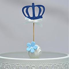 billige Kakedekorasjoner-Kakepynt Ikke-personalisert Hjerter Kort Papir Bursdag Sløyfe Gull Strand Tema 1 OPP