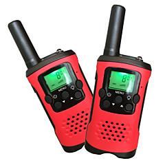 billige Walkie-talkies-T48 Håndholdt / Dobbelt bånd VOX / Kryptering / Auto Sende 5-10 km 5-10 km 22Channels 1200mAh 0.5W Walkie Talkie Toveis radio