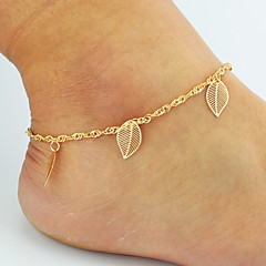 Women's Anklet/Bracelet Alloy Basic Double-layer Bikini Costume Jewelry Flower Leaf Animal Shape Butterfly Rose Jewelry For Wedding Party