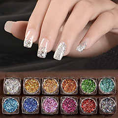 cheap Nail Care & Polish-12 Glitter & Poudre Sequins Glitters Classic High Quality Daily