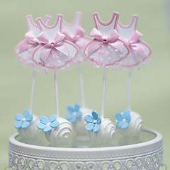 Kakepynt Ikke-personalisert Hjerter Kort Papir Bryllup Jubileum utdrikkingslag Baby Shower 15- og 16-års bursdag Bursdag Rosa Rustikk Tema