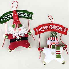 Holiday Decorations Christmas Decorations Christmas Wreaths Toys Santa Suits Snowman 3D Wood 2 Pieces Christmas Gift