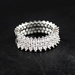 cheap Rings-Women's Rhinestone Sterling Silver Ring - Luxury Silver Ring For Wedding / Party / Casual