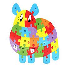 baratos -Blocos de Construir Quebra-Cabeça Jogos de Madeira Cavalo Animais Novidades De madeira 1 pcs Crianças Para Meninos Para Meninas Brinquedos Dom