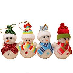 저렴한 -크리스마스 장식 크리스마스 파티 제품 홀리데이 용품 4Pcs 크리스마스 플라스틱 아이보리