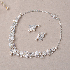 Jewelry Set Women's Wedding / Engagement / Party / Special Occasion Jewelry Sets Alloy Rhinestone Imitation Pearl Silver