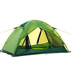billige Telt og ly-Naturehike 2 personer Telt Enkelt camping Tent Ett Rom Brette Telt Velventilert Bærbar Ultra Lett (UL) Vindtett Regn-sikker Sammenleggbar