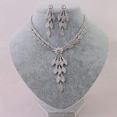 Dames Choker kettingen Legering Euramerican Zilver Sieraden Voor Bruiloft Feest Speciale gelegenheden Verjaardag Verloving Causaal2