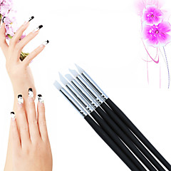 cheap Beauty & Hair-5Pcs/Set BQAN Painting Nail Brush Set Silica Gel UV Gel Carving Nail Art Dotting Pen Make Patterns Nail Art Brush