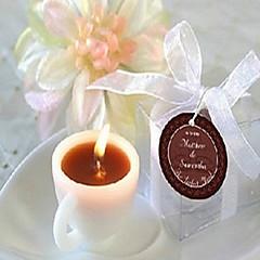 mooie koffiekopje kaars bruiloft elegante bruiloft feestartikelen