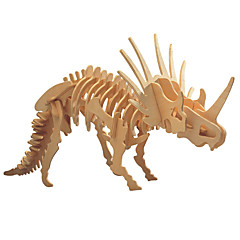 cheap -3D Puzzle Wooden Puzzle Triceratops Dinosaur Animal Bones DIY Wooden 1pcs Kid's Boys' Gift