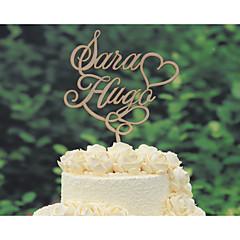 Kakepynt Personalisert Klassisk Par Krom Bryllup Jubileum Gul Klassisk Tema Vintage Tema Rustikk Tema 1 Polyester Veske