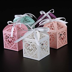25pcs/lots Love Heart Candy Box Wedding Party Favor box gift box decoration party supplies