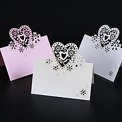 cheap -50pcs/lots Love Heart Laser Cut Wedding Party Table Name Place Cards Wedding Card