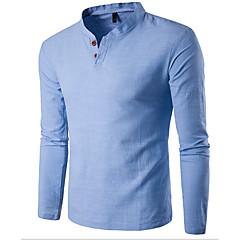 Herrn Solide Sport Wochenende T-shirt, Ständer Schlank Baumwolle