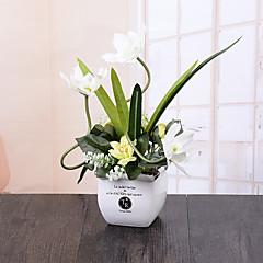 ieftine -1 ramură Orhidee Față de masă flori Flori artificiale