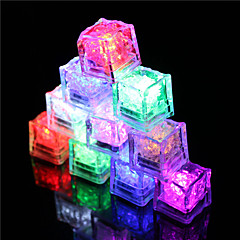 cheap Home Decor-12Pcs Color Changing Ice Cubes Led Light Party Wedding Christmas Bar Restaurant