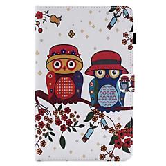 Für Hüllen Cover Kreditkartenfächer mit Halterung Flipbare Hülle Handyhülle für das ganze Handy Hülle Eule Hart Kunst-Leder für AppleiPad