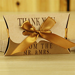 50pcs Pillow Kraft Paper Box Candy Box Wedding Box Gift Box